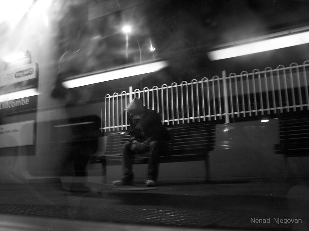 sitting in the background of life by Nenad  Njegovan