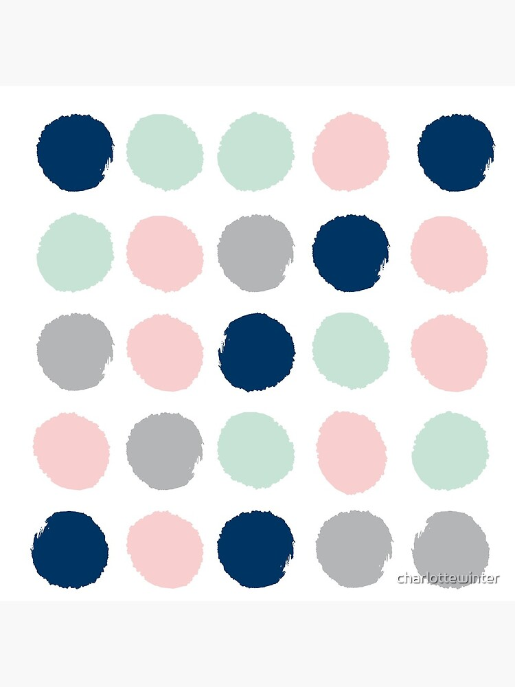 Gender neutral nursery home decor abstract painted dots pattern minimalist  by charlottewinter