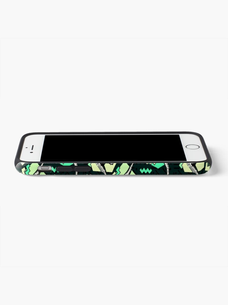 Alternate view of Neon Skeleton Dinosaur Pattern iPhone Case & Cover