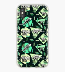 Neon Skelett Dinosaurier Muster iPhone-Hülle & Cover