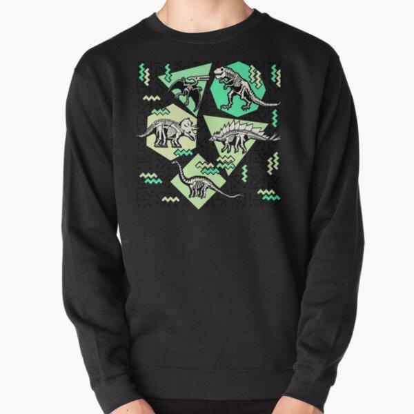 Neon Skeleton Dinosaur Pattern Pullover Sweatshirt