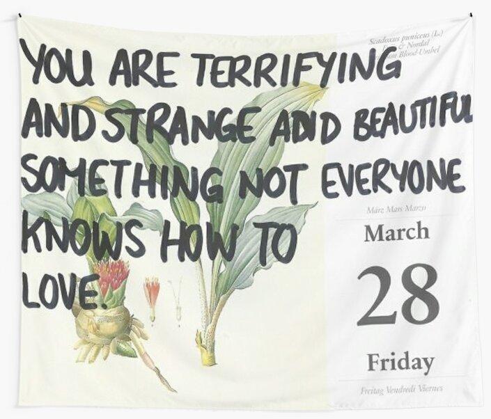 terrifying and strange and beautiful by brijanaxsophia