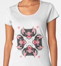 Bat Head Pattern Women's Premium T-Shirt