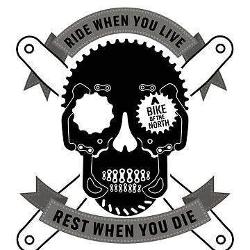 Bike components skull T-shirt by dominicraad
