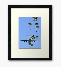 Military Parachutes Framed Print