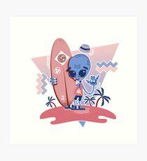 Alien Surf - Serenity Art Print