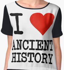 I Love Ancient History Women's Chiffon Top