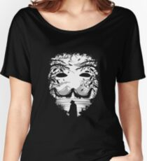 Guy Fawkes, Anonymous Mask  Women's Relaxed Fit T-Shirt