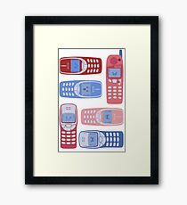 Vintage Cellphone Reactions Framed Print
