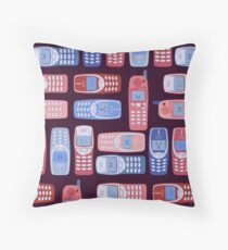 Vintage Cellphone Reactions Throw Pillow