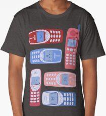 Vintage Cellphone Reactions Long T-Shirt