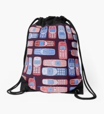 Vintage Cellphone Reactions Drawstring Bag