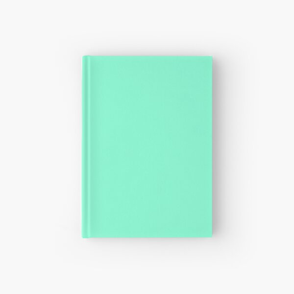 PLAIN  AQUAMARINE -100 TURQUOISE AND AQUA  AND CYAN SHADES ON OZCUSHIONS ON ALL PRODUCTS Hardcover Journal