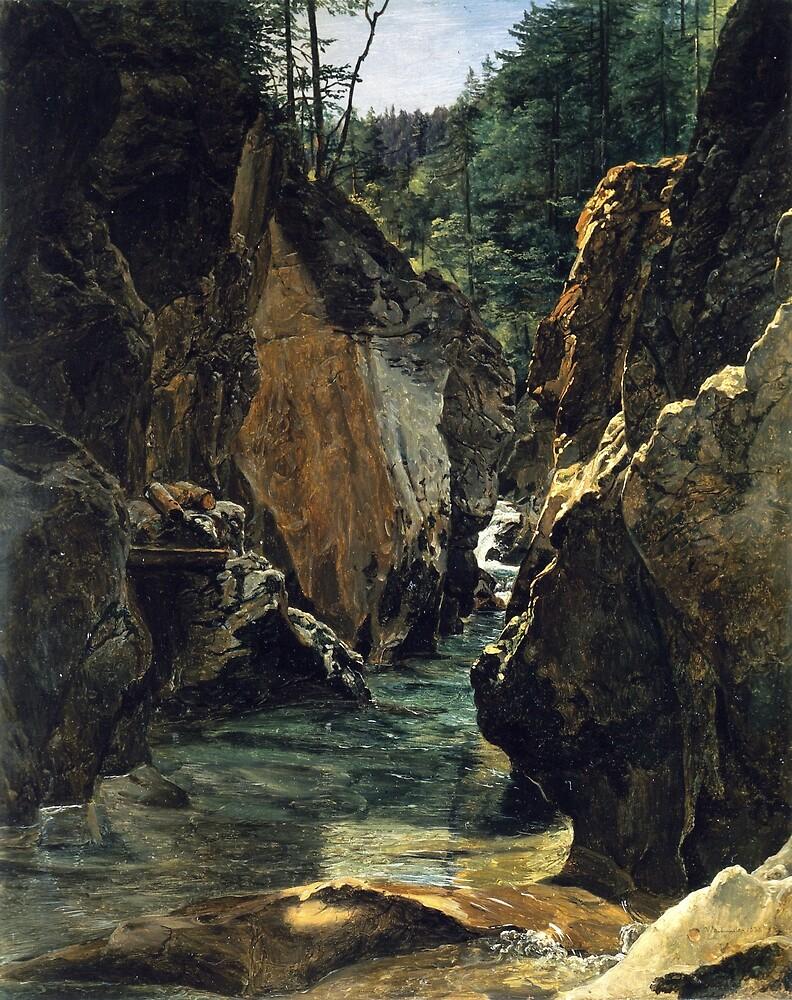 Ferdinand Georg Waldmüller Rettenbach-gorge at Ischl by pdgraphics
