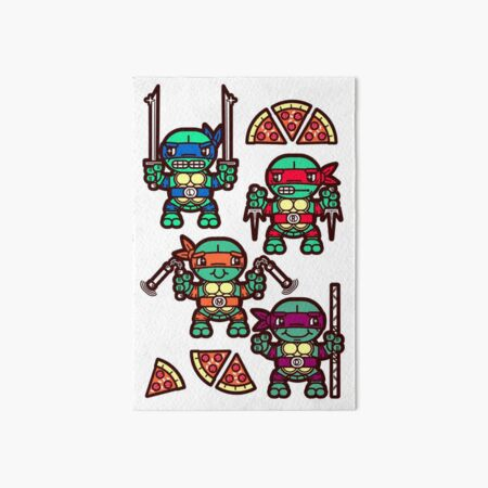 Teenage Turtle Pizza Party Art Board Print