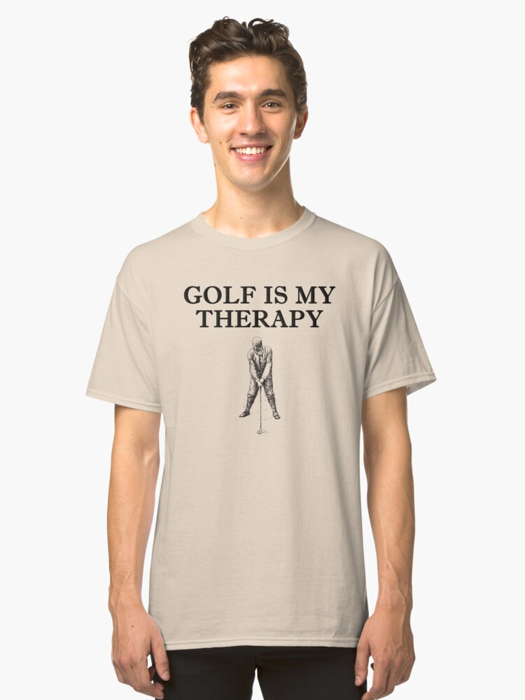 Golf Is My Therapy - Vintage Swing Classic T-Shirt Front