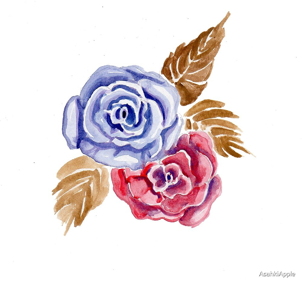 purple roses by AsahkiApple