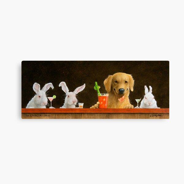 Will Bullas imprimer / lièvre du chien et un jeune blond ... Impression sur toile