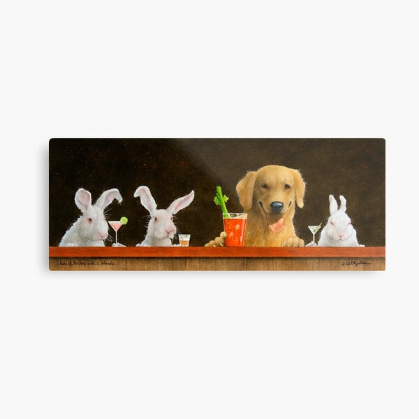 Will Bullas print / hare of the dog and a young blond... Metal Print