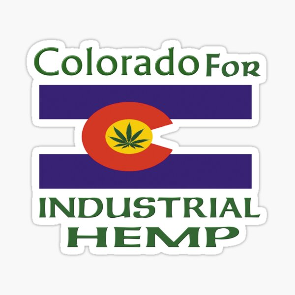 Colorado for Industrial Hemp Flag Sticker