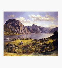 Ferdinand Georg Waldmüller Traunsee with Orth Castle Photographic Print
