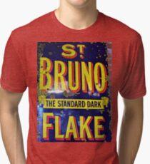 St Bruno Flake - Standard Dark Old Advertisement  Tri-blend T-Shirt