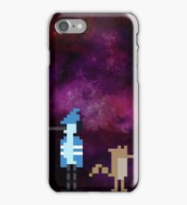 Mordecai and Rigby pixel art iPhone Case/Skin