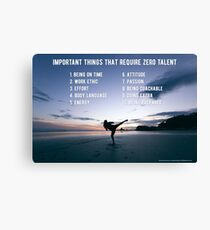 Important Things that Require Zero Talent Canvas Print