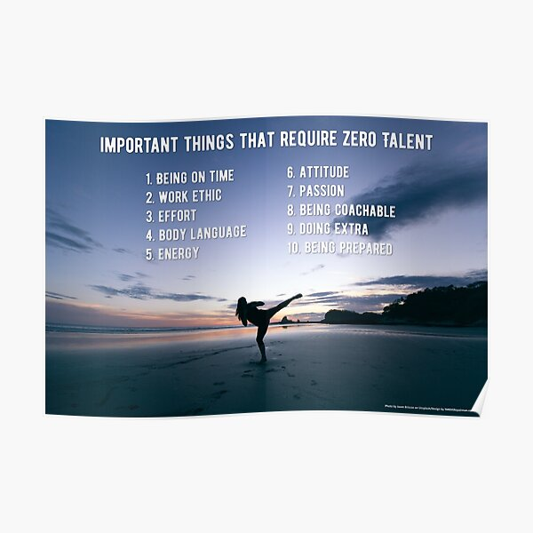 Important Things that Require Zero Talent Poster