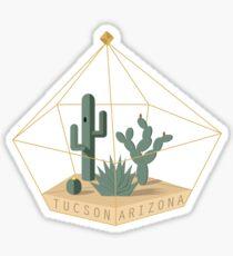 Tucson Arizona Cactus Terrarium Sticker