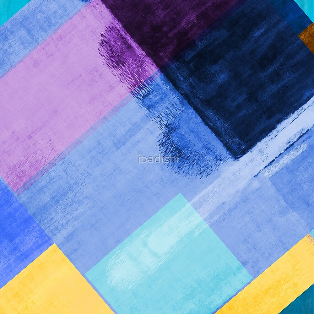 Abstract Colorful Pattern Rectangles and Shapes by ibadishi