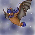 Ravenclaw Inspired Winter Bat by jambammer