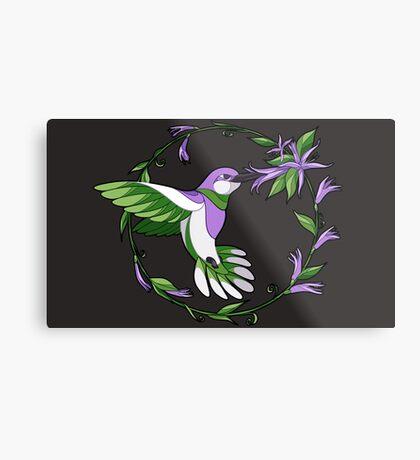 Pride Birds - Genderqueer Metal Print