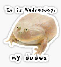 It is Wednesday my dudes Sticker