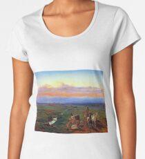 Ferdinand Georg Waldmüller Evening Landscape Women's Premium T-Shirt