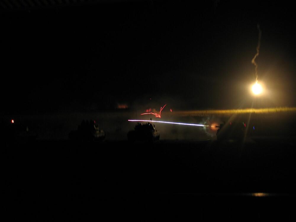 Tank Night Fire by balcs