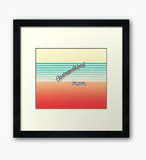 Assateague Island, Virginia | Surf Stripes Framed Print