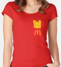 McDonalds Fries Women's Fitted Scoop T-Shirt