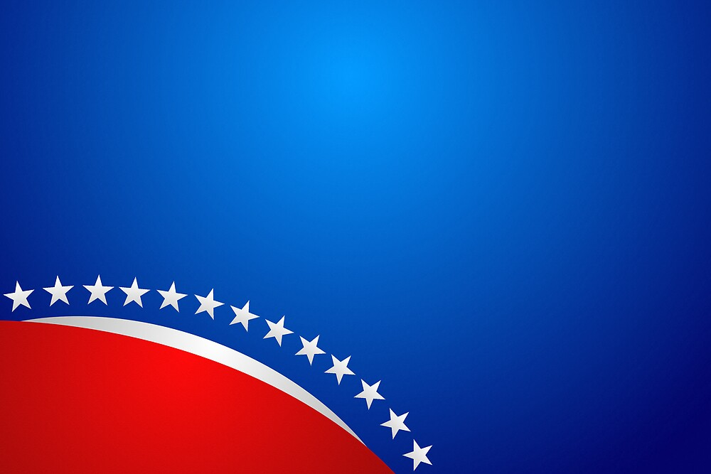 RED WHITE & BLUE - ABSTRACT I by webart