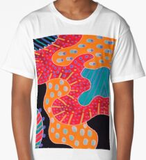 Dots and lines, colorful Long T-Shirt