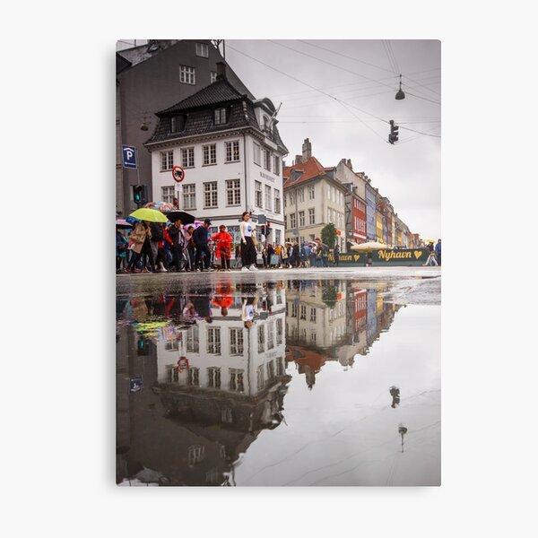 Rainy day reflections Metal Print