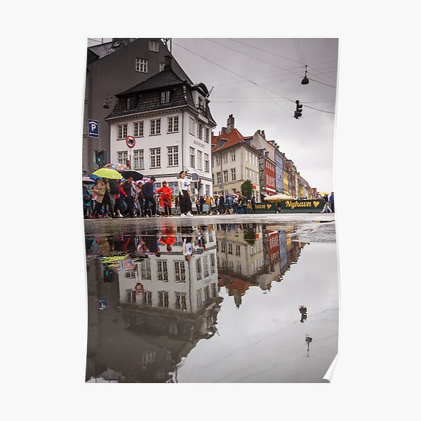 Rainy day reflections Poster