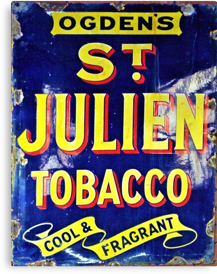 St Julien Tobacco Old Email Advertisement  by Remo Kurka