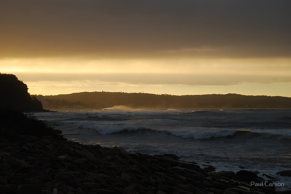 Surf At Sunset by Paul Carson