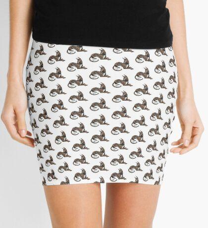 Greyhound - Dark Brindle Mini Skirt