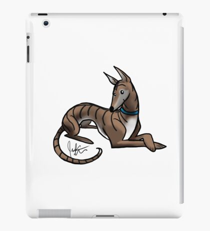 Greyhound - Dark Brindle iPad Case/Skin