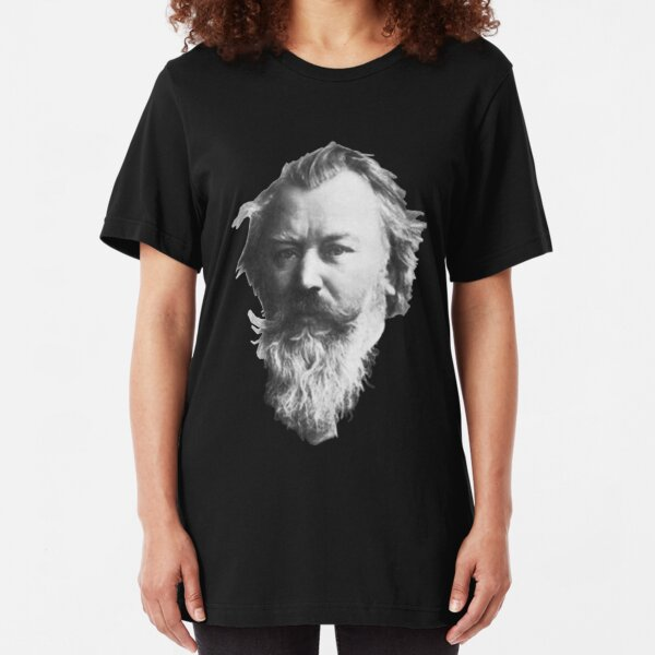 Johannes Brahms, great German composer Slim Fit T-Shirt
