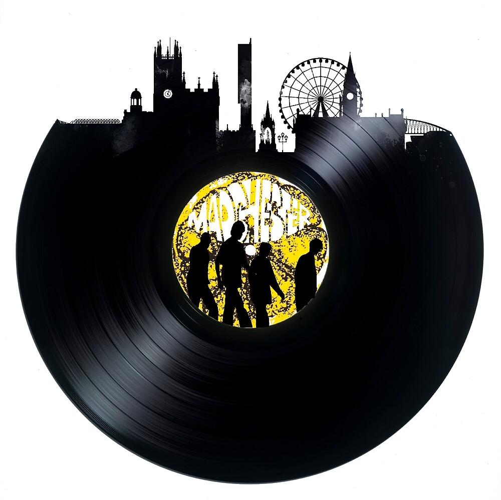 Roses Vinyl Manchester Skyline by me1401
