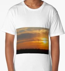 Cornfield Sunset Long T-Shirt