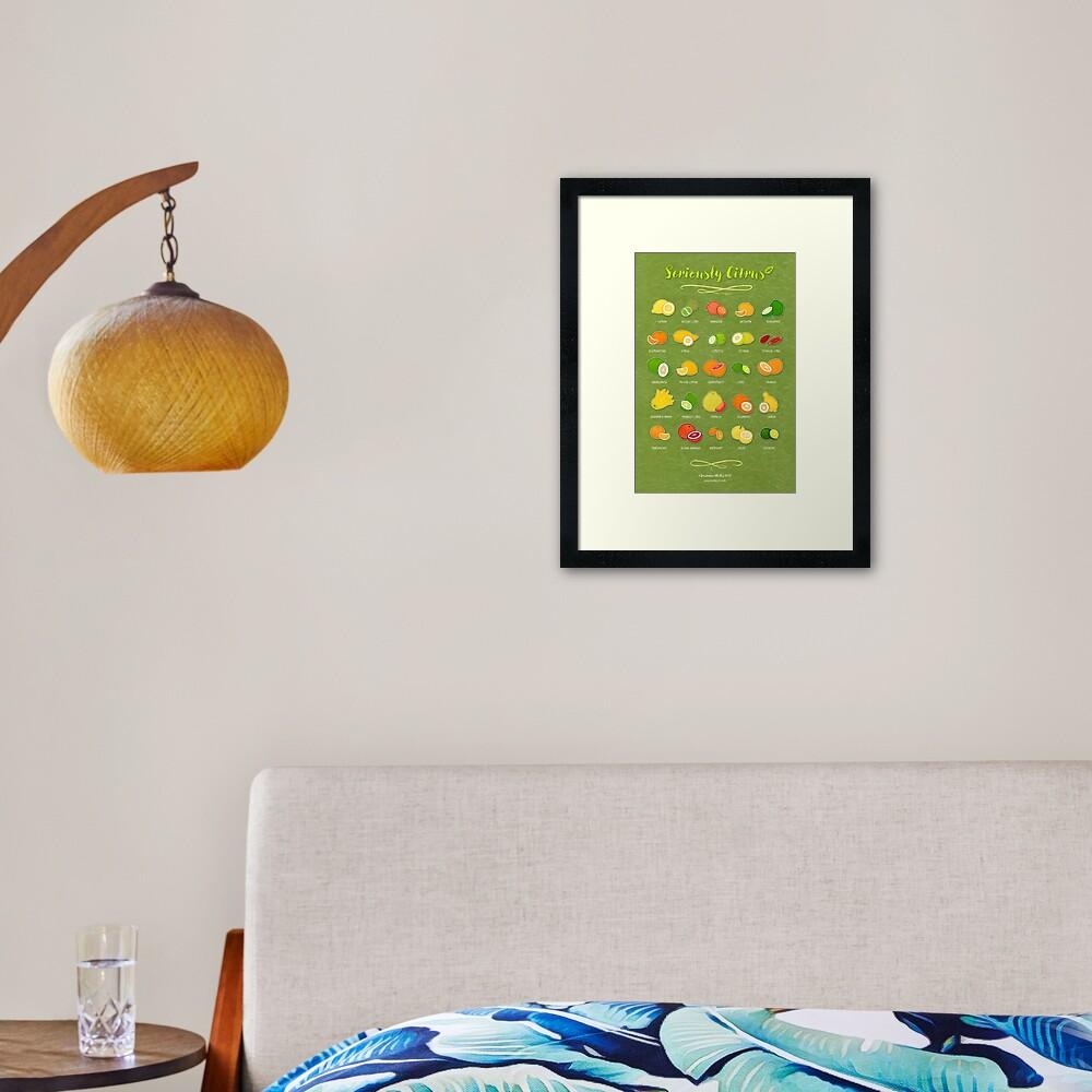 Seriously Citrus Framed Art Print